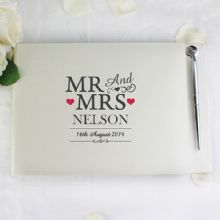 Mr & Mrs Guest Book & Pen